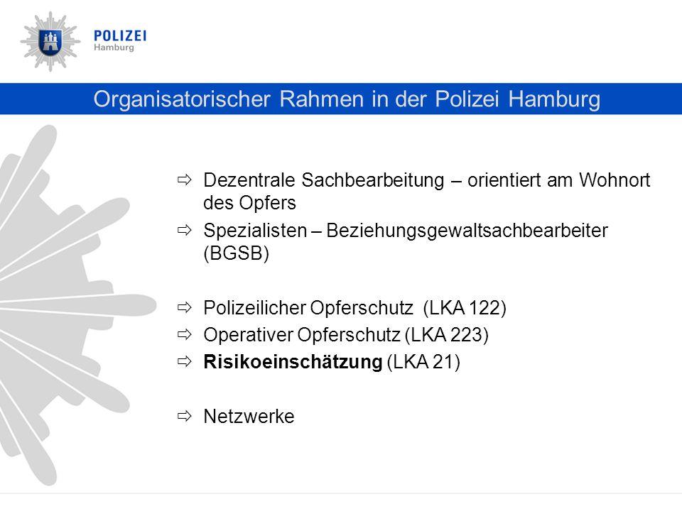 Organisatorischer Rahmen in der Polizei Hamburg