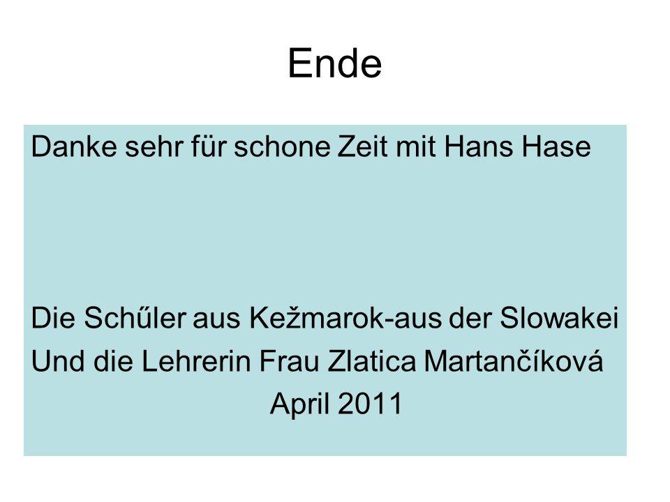 Ende Danke sehr für schone Zeit mit Hans Hase
