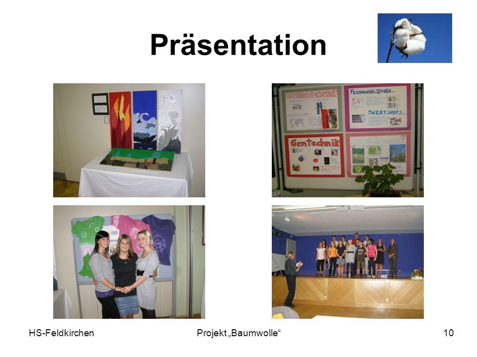 "Präsentation HS-Feldkirchen Projekt ""Baumwolle"