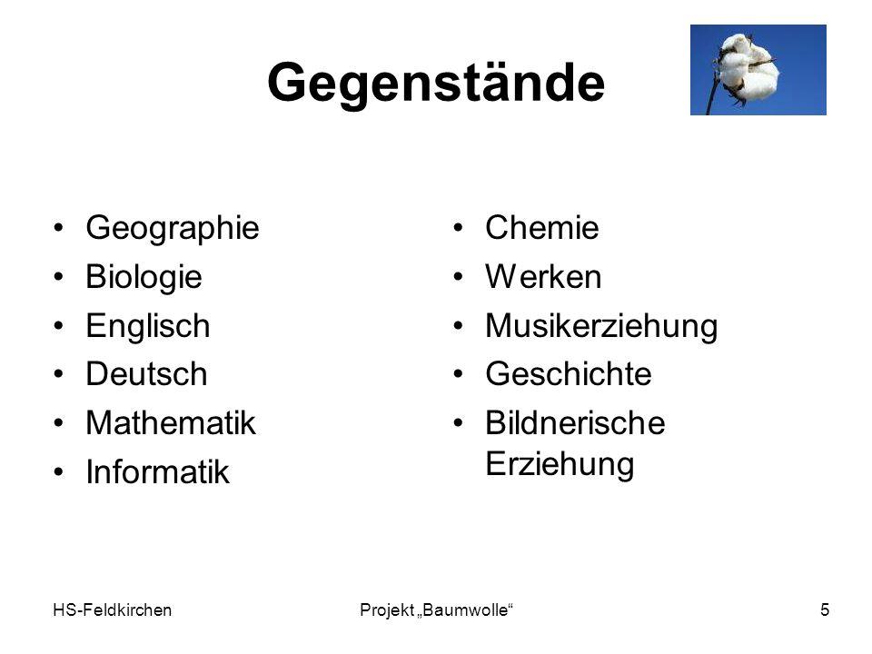 Gegenstände Geographie Biologie Englisch Deutsch Mathematik Informatik