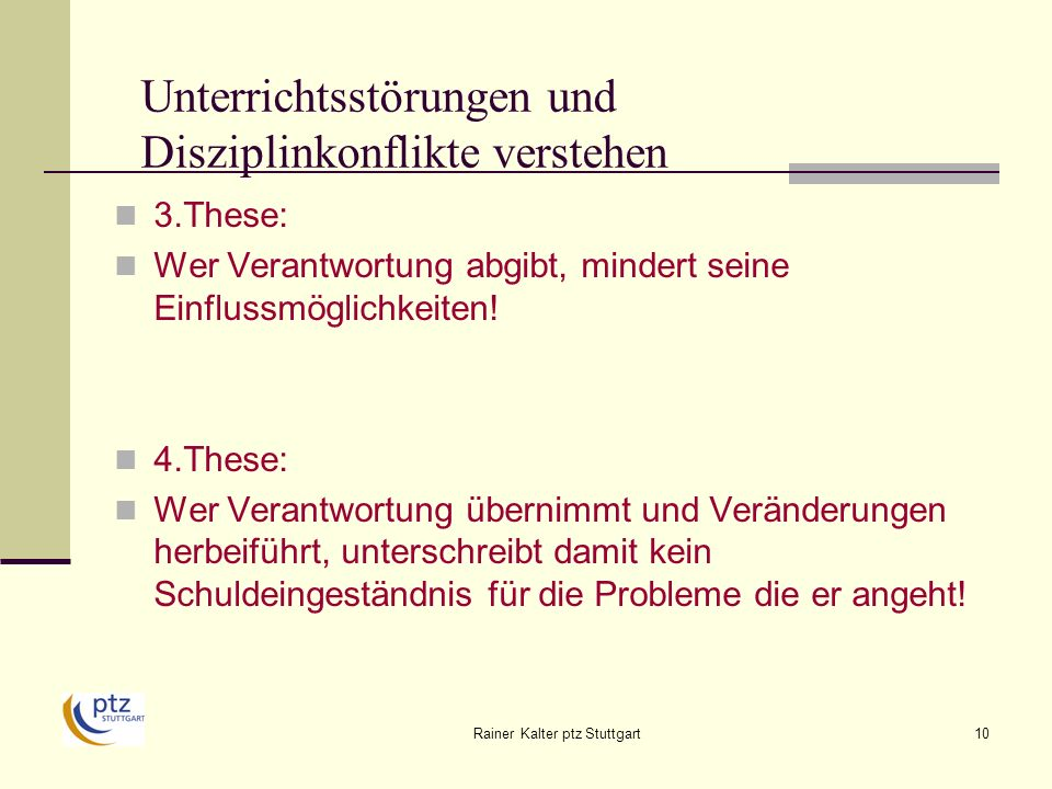 Unterrichtsstörungen und Disziplinkonflikte verstehen