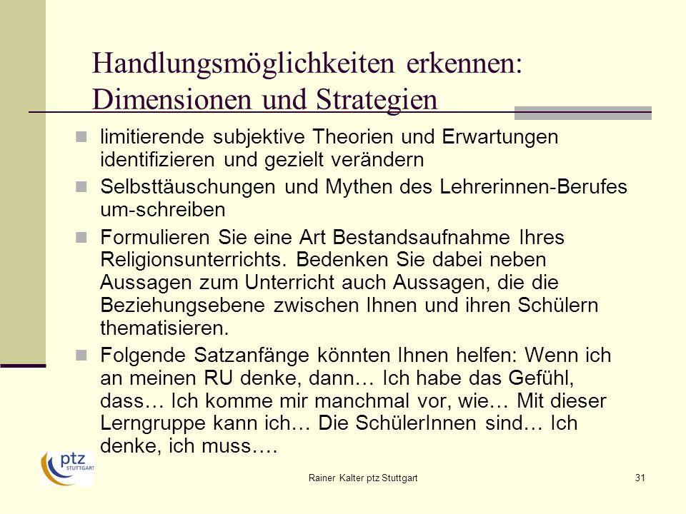 Handlungsmöglichkeiten erkennen: Dimensionen und Strategien