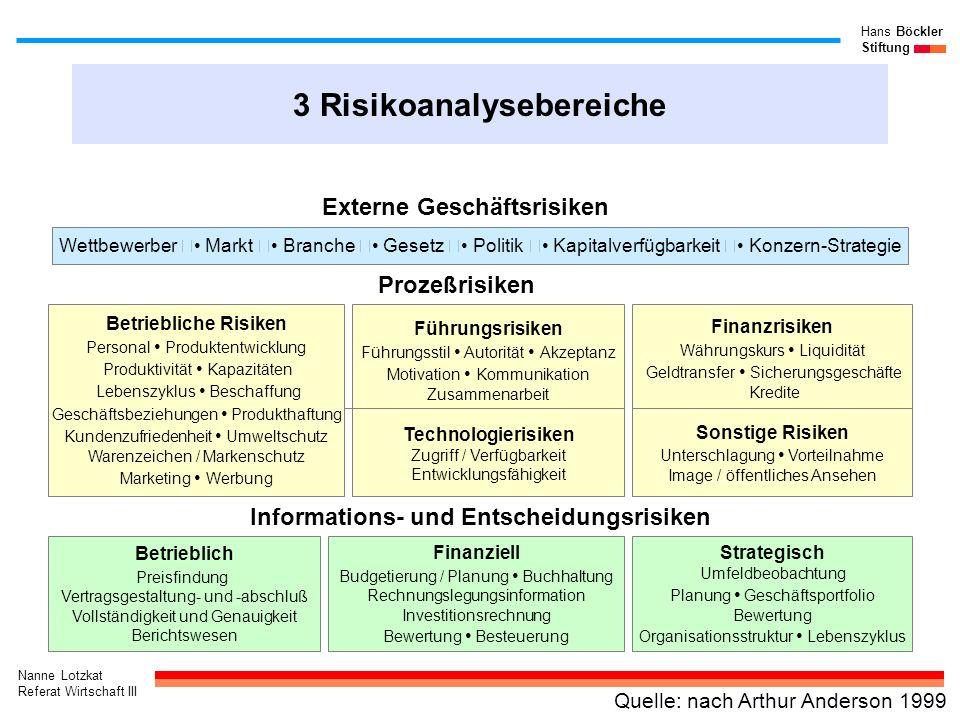 3 Risikoanalysebereiche