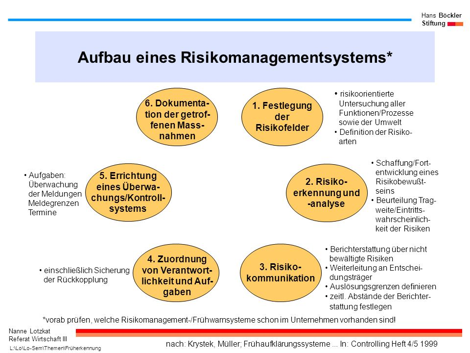 Aufbau eines Risikomanagementsystems*