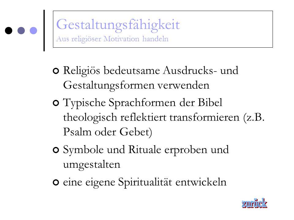 Wahrnehmungsfähigkeit Religiöse Phänomene wahrnehmen und beschreiben