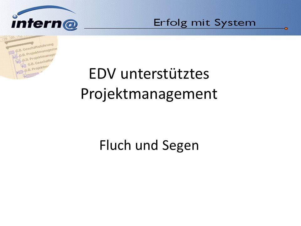 EDV unterstütztes Projektmanagement