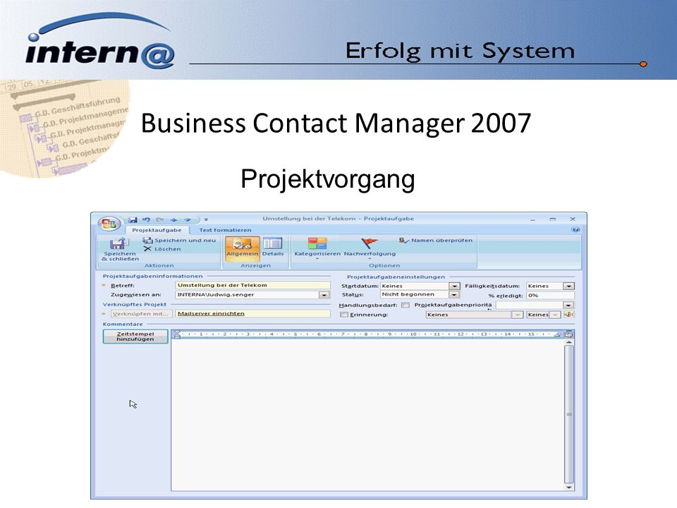 Business Contact Manager 2007