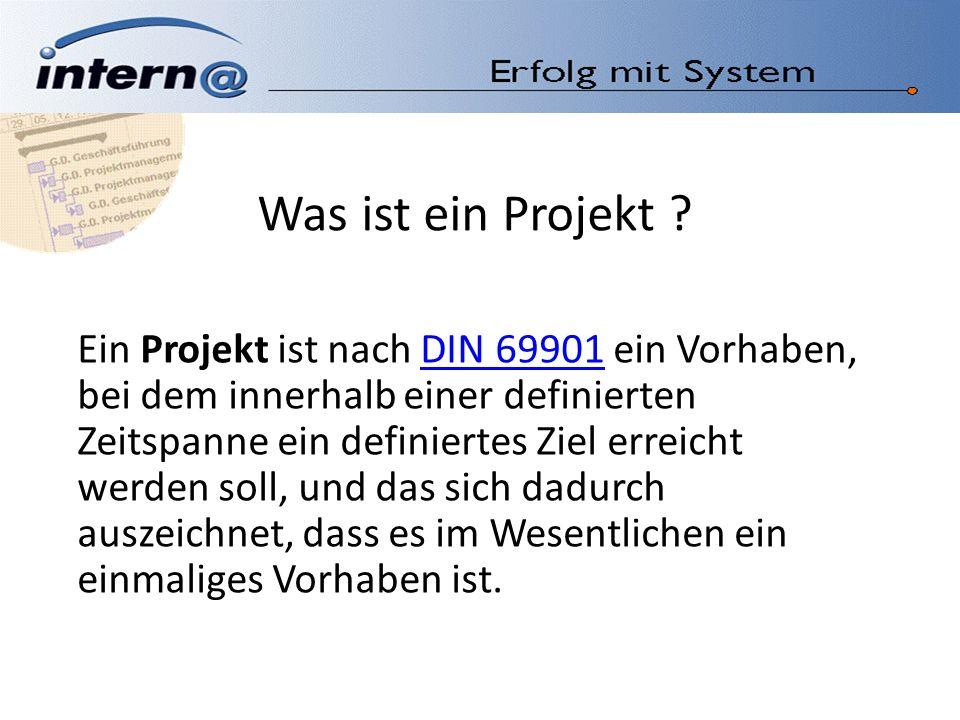 Was ist ein Projekt