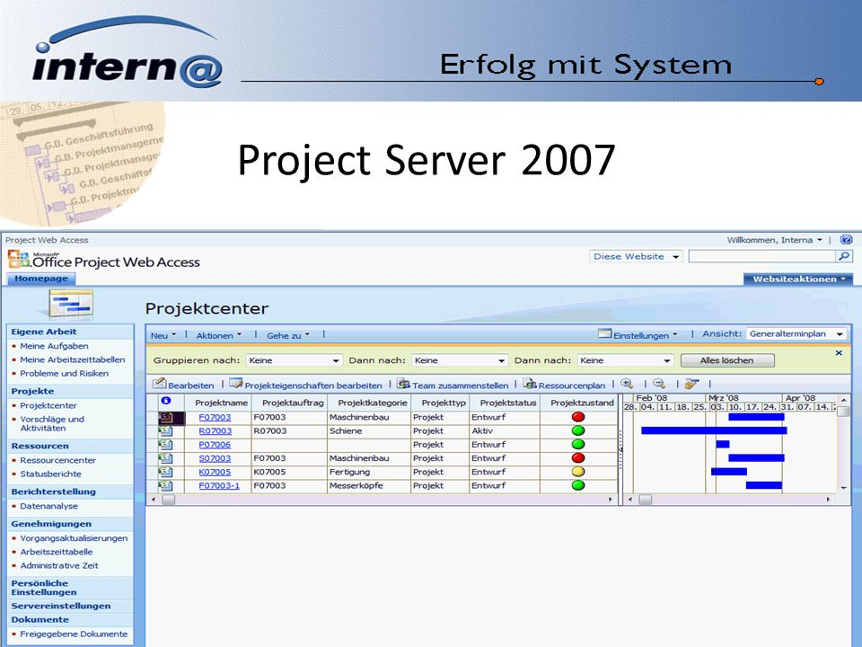 Project Server 2007