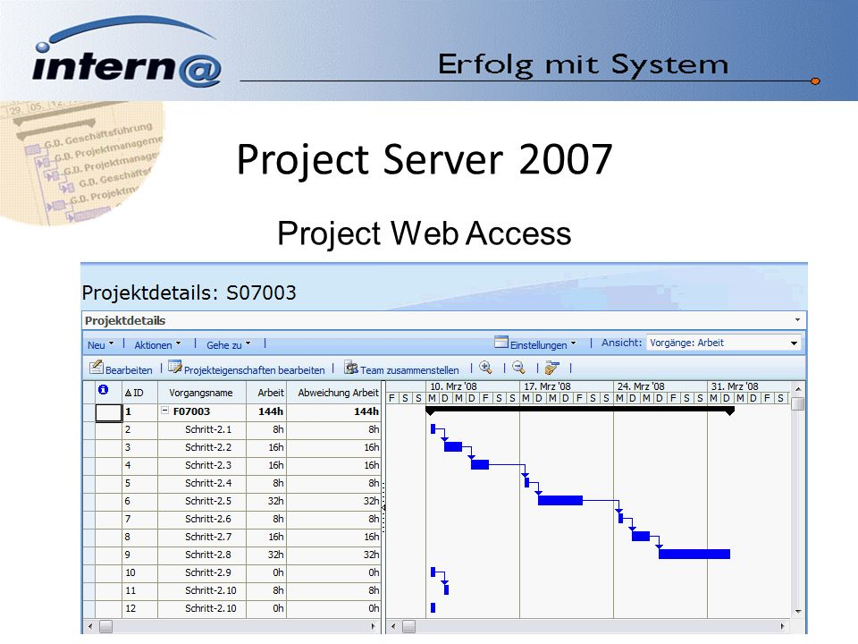 Project Server 2007 Project Web Access