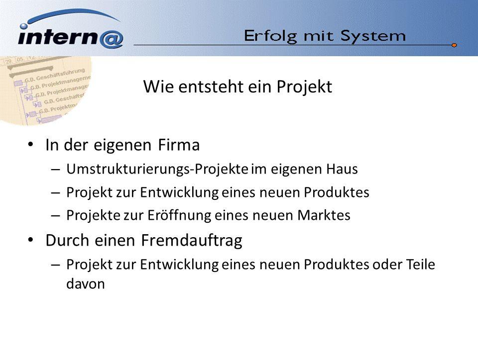 Wie entsteht ein Projekt
