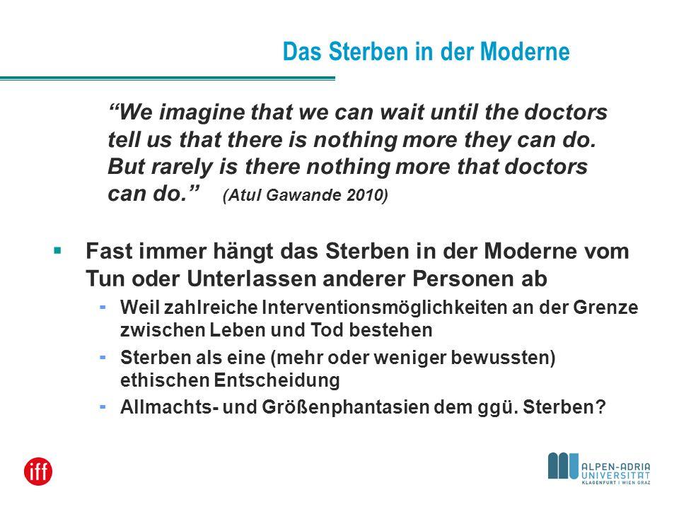 Das Sterben in der Moderne