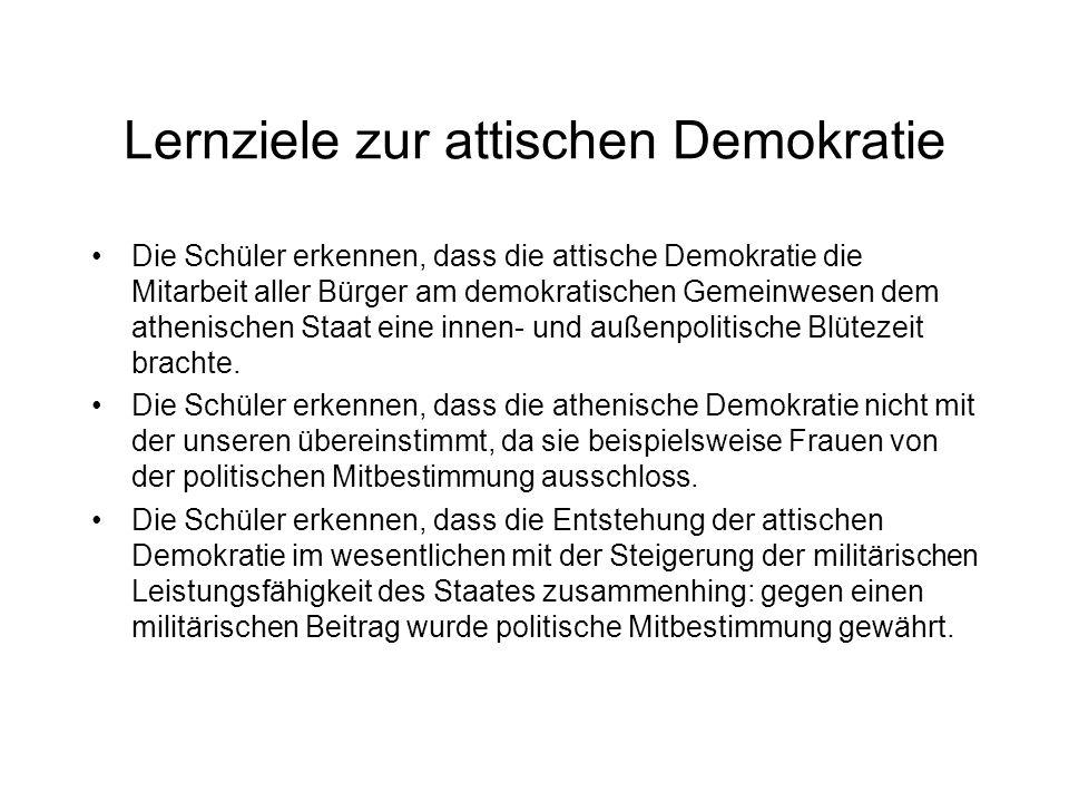 Lernziele zur attischen Demokratie