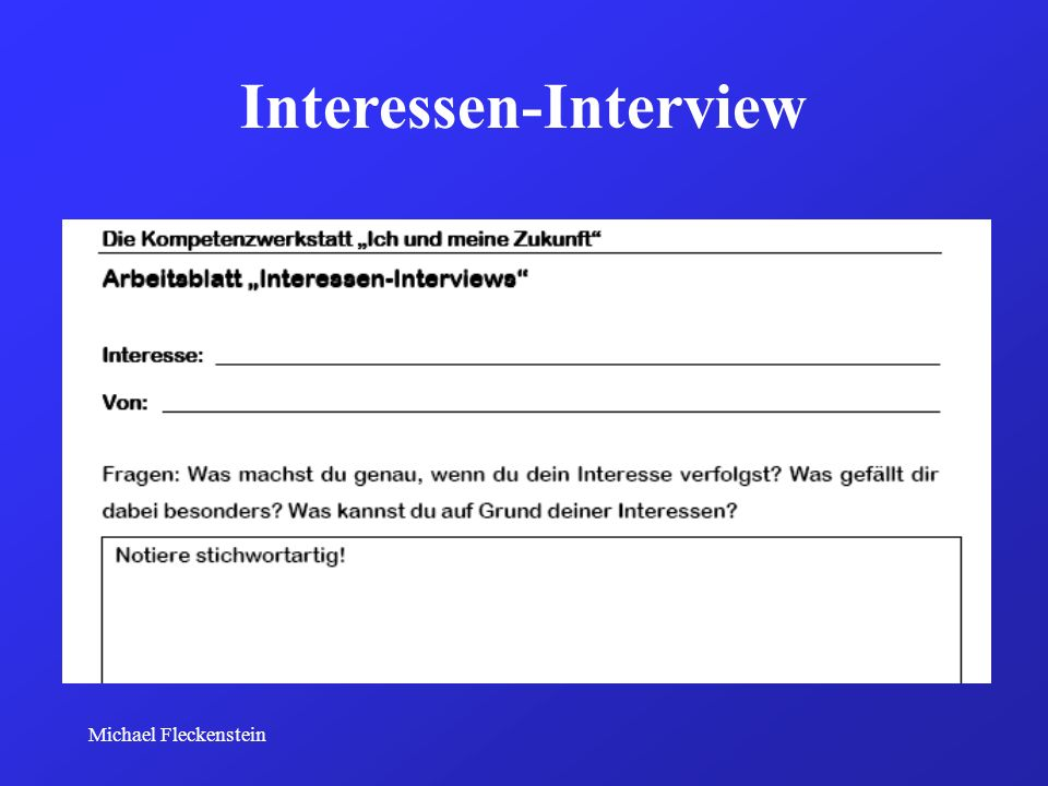 Interessen-Interview