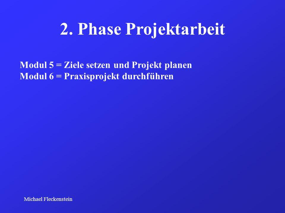 2. Phase Projektarbeit Modul 5 = Ziele setzen und Projekt planen