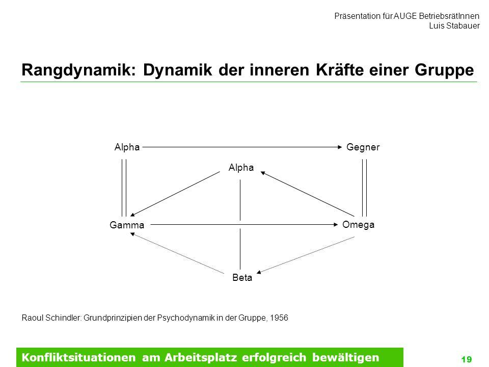 Rangdynamik: Dynamik der inneren Kräfte einer Gruppe