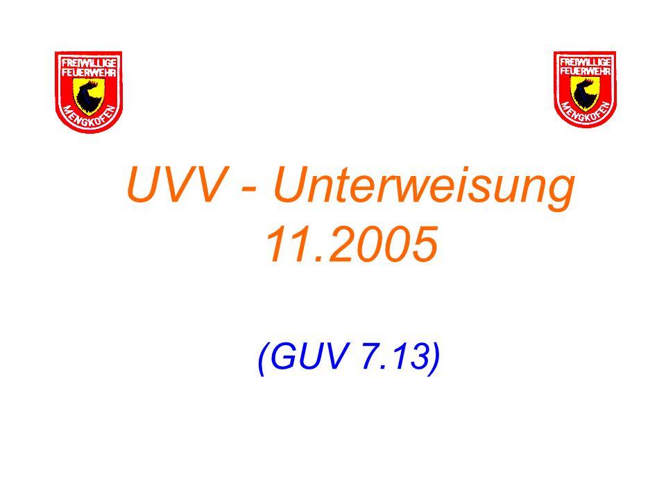 UVV - Unterweisung 11.2005 (GUV 7.13)