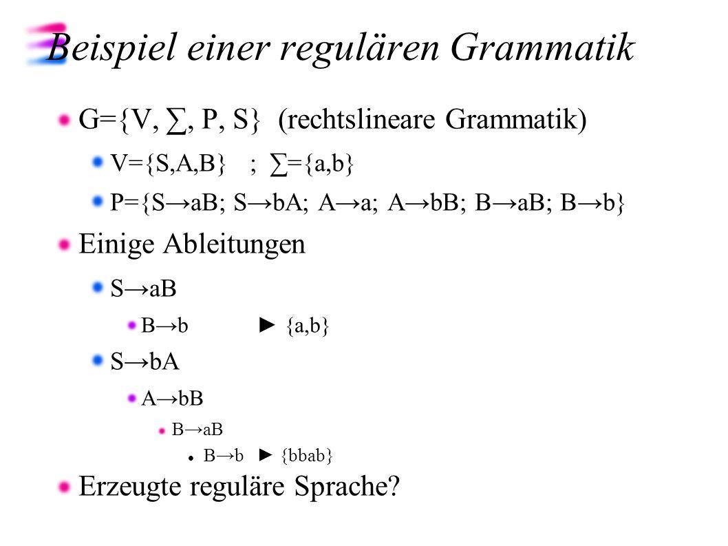 Beispiel einer regulären Grammatik