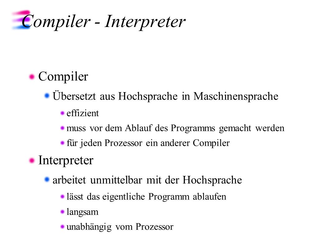 Compiler - Interpreter