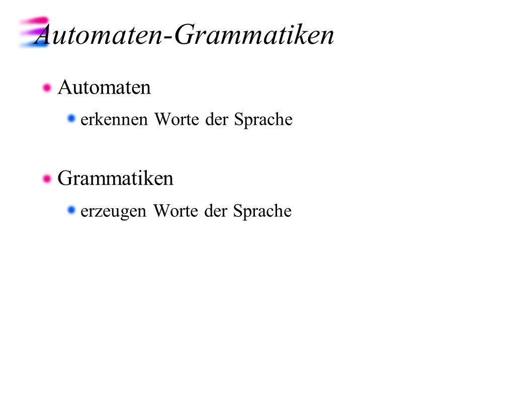 Automaten-Grammatiken
