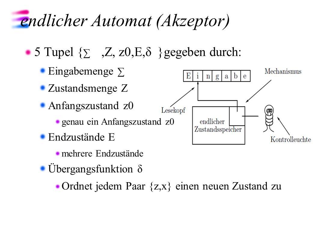 endlicher Automat (Akzeptor)