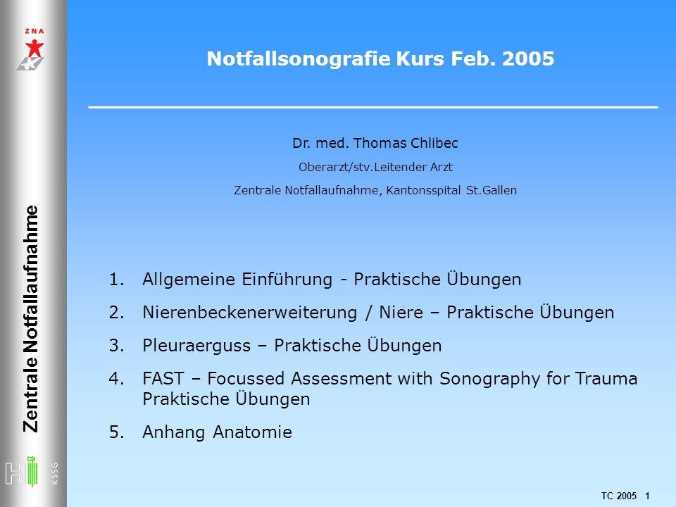Notfallsonografie Kurs Feb. 2005