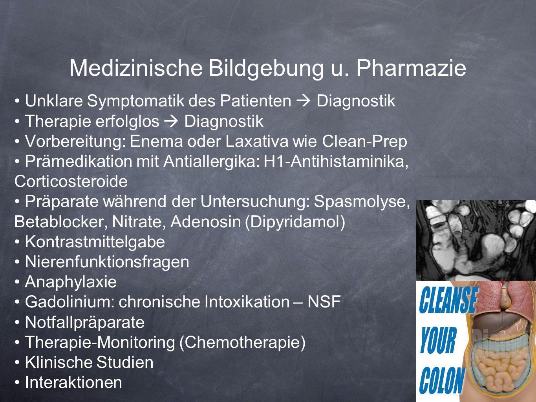 Medizinische Bildgebung u. Pharmazie