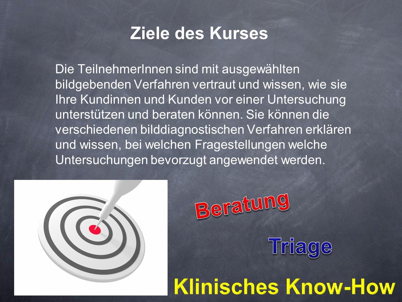 Beratung Triage Klinisches Know-How