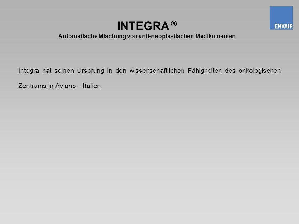 INTEGRA ® Automatische Mischung von anti-neoplastischen Medikamenten
