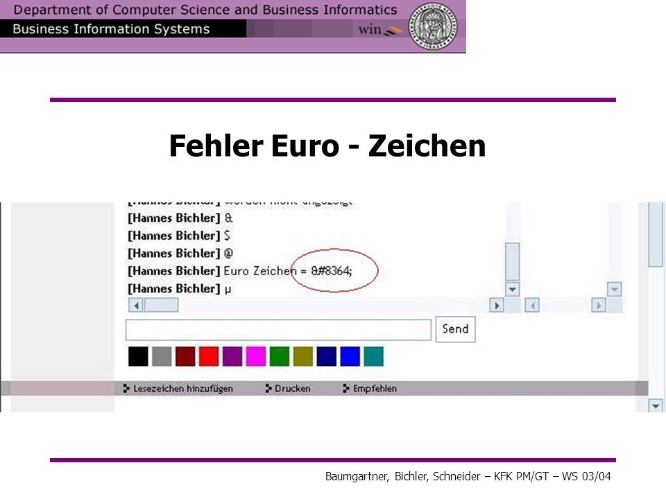 Fehler Euro - Zeichen