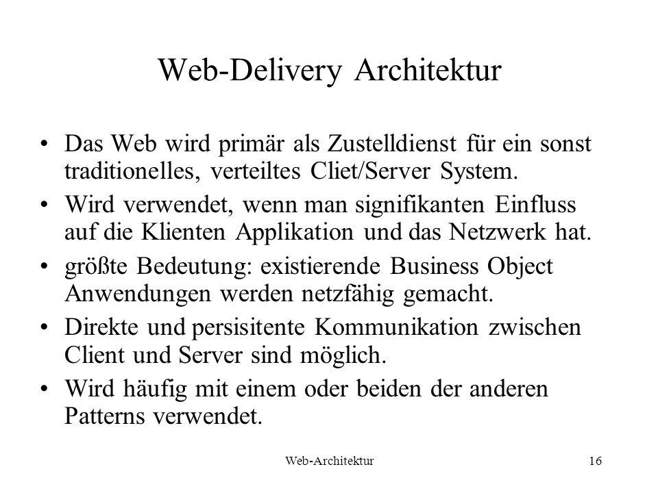 Web-Delivery Architektur