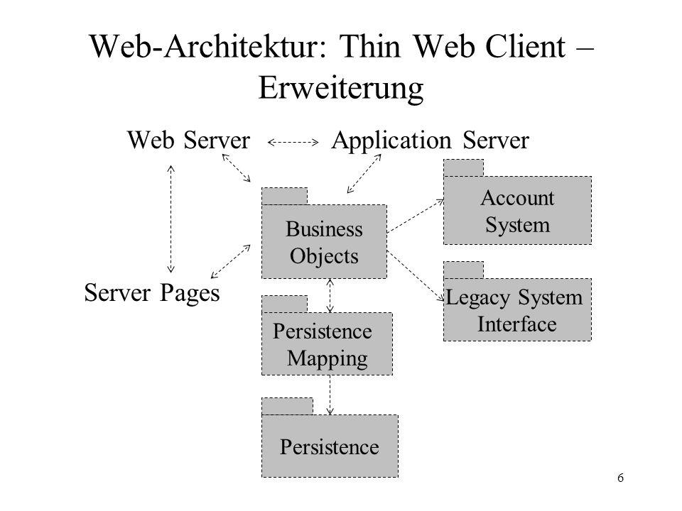 Web-Architektur: Thin Web Client – Erweiterung