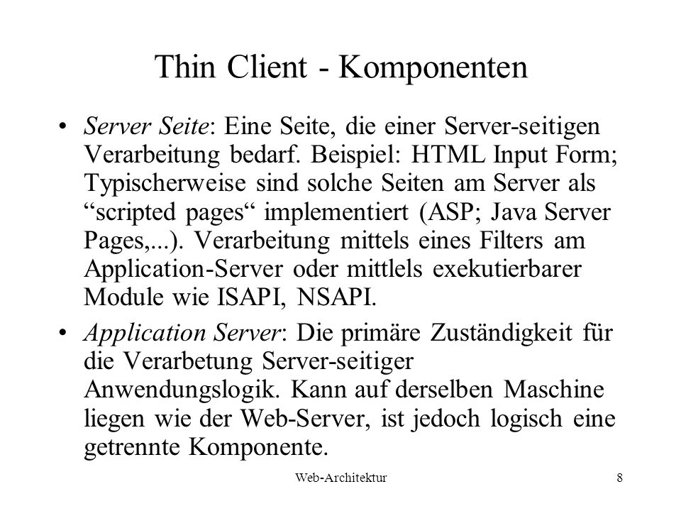 Thin Client - Komponenten
