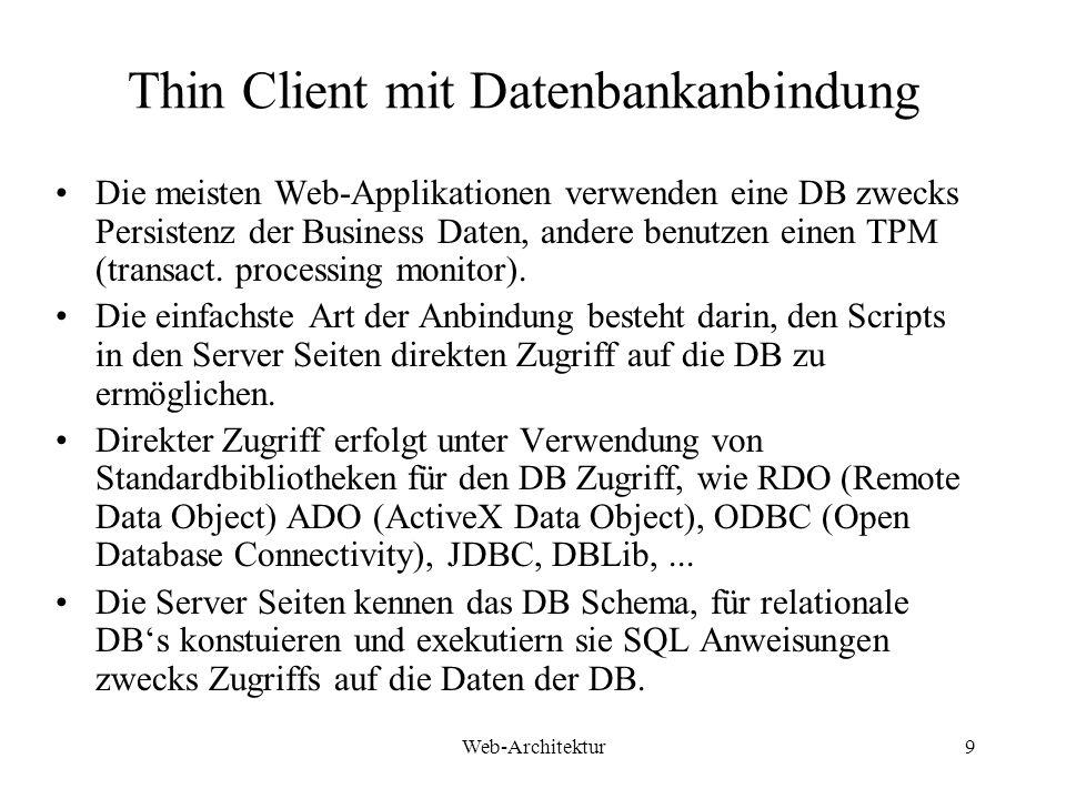 Thin Client mit Datenbankanbindung