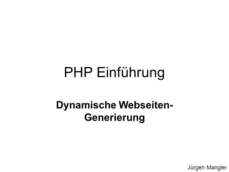 Dynamische Webseiten-Generierung