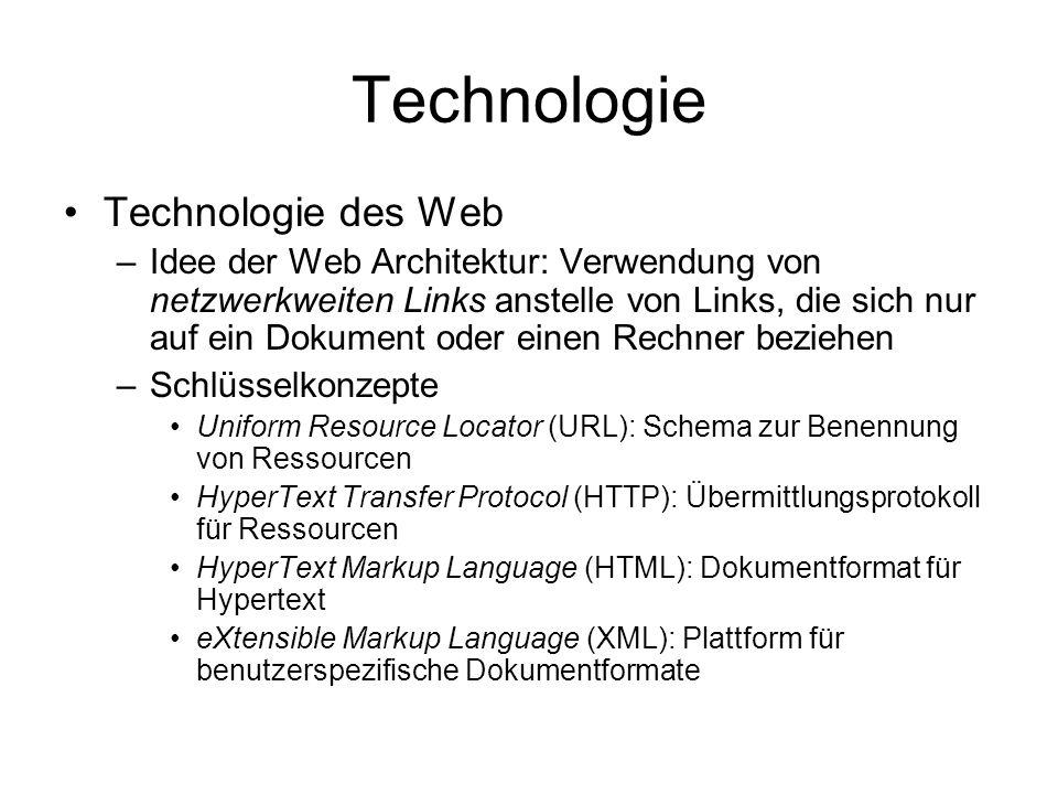 Technologie Technologie des Web