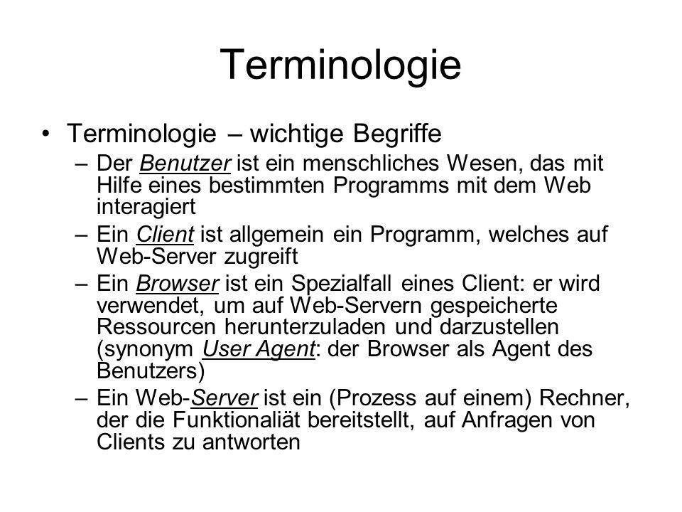 Terminologie Terminologie – wichtige Begriffe