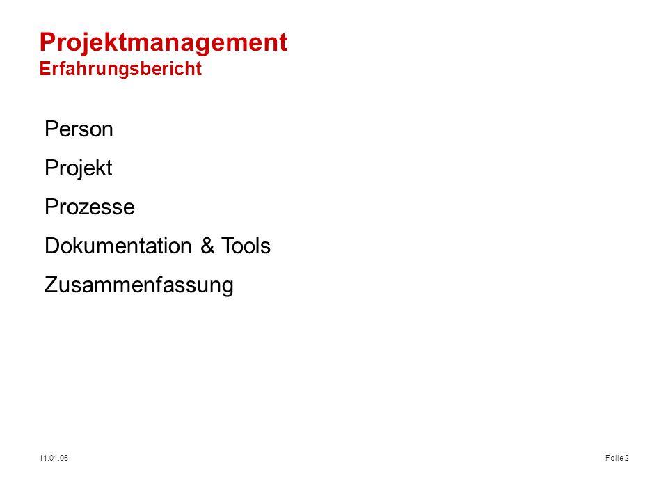Projektmanagement Erfahrungsbericht