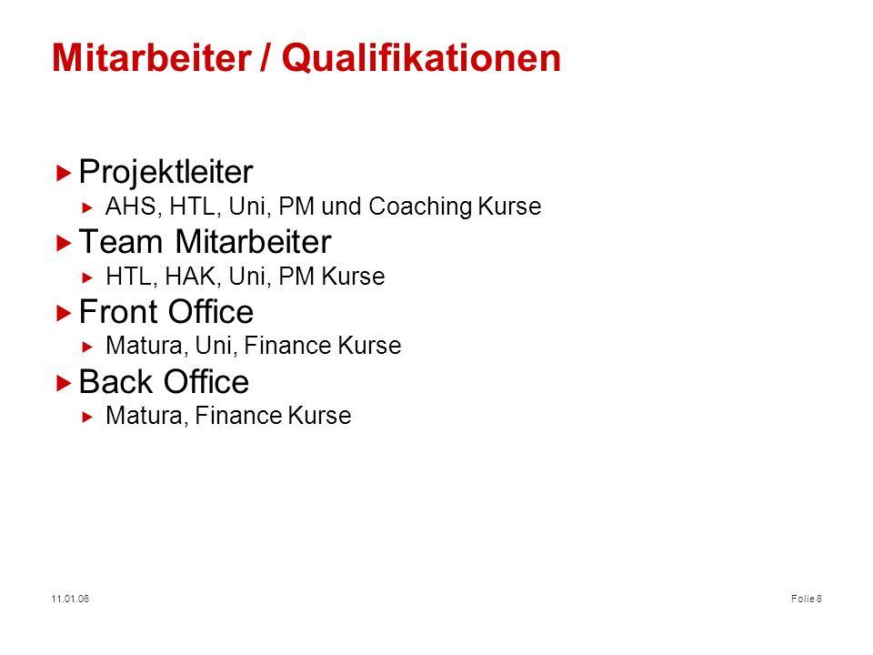 Mitarbeiter / Qualifikationen