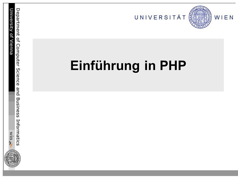 Einführung in PHP