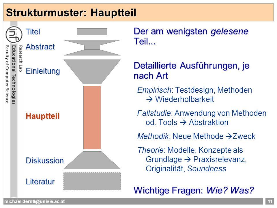 Strukturmuster: Hauptteil
