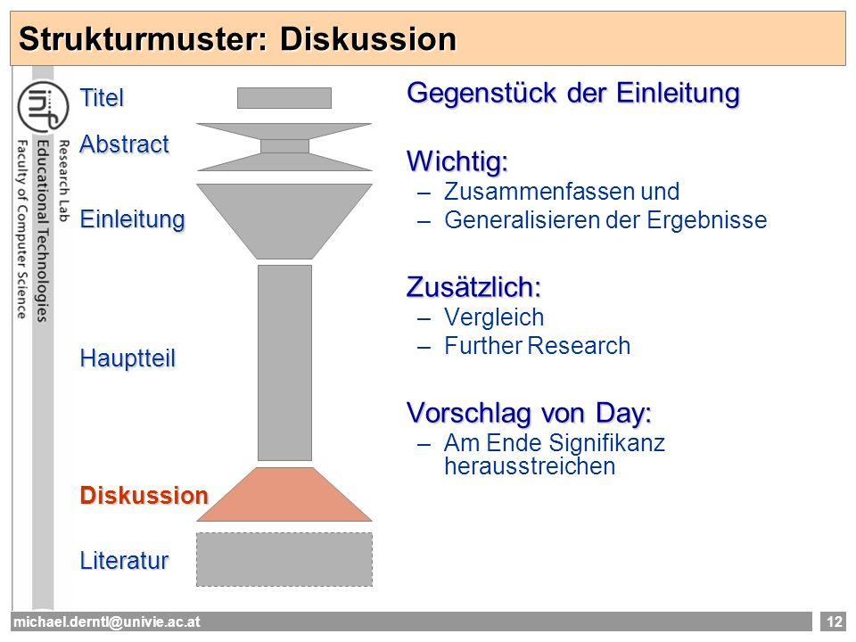 Strukturmuster: Diskussion