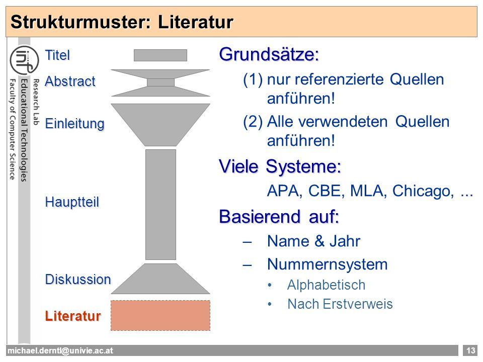 Strukturmuster: Literatur