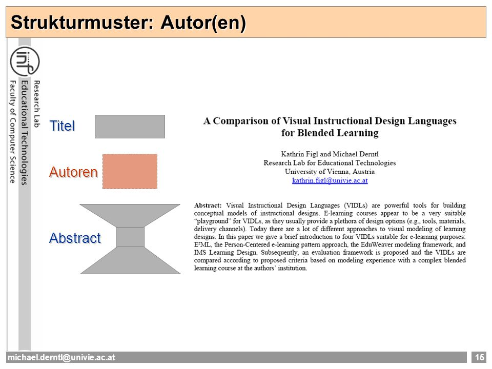 Strukturmuster: Autor(en)