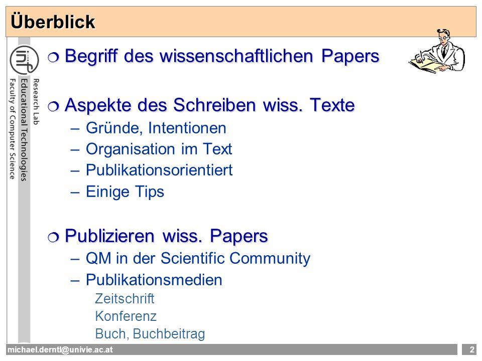 Begriff des wissenschaftlichen Papers