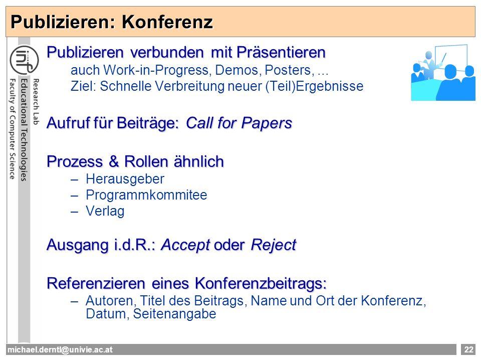 Publizieren: Konferenz