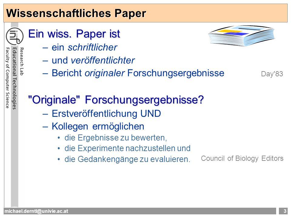 Wissenschaftliches Paper