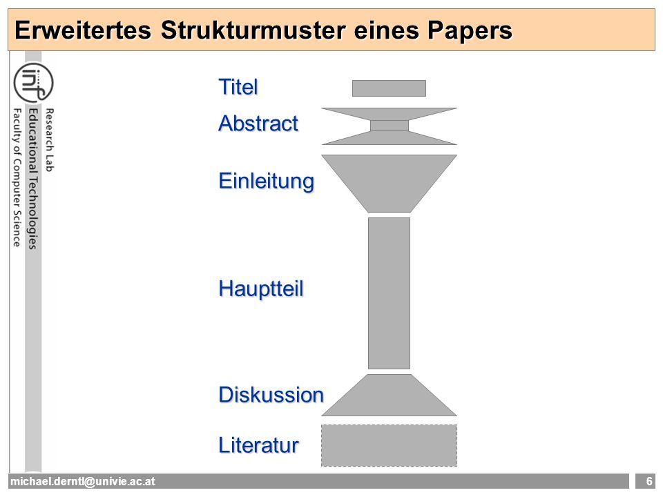 Erweitertes Strukturmuster eines Papers