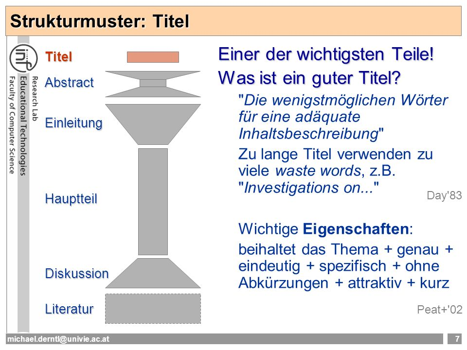 Strukturmuster: Titel