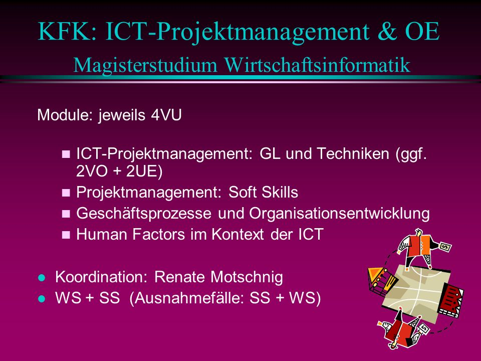 KFK: ICT-Projektmanagement & OE Magisterstudium Wirtschaftsinformatik